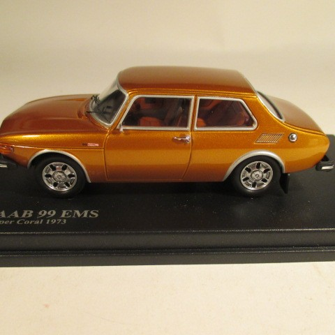 MMNC034 Nordic Collection Troféu Saab 99 EMS 1973 copper coral side view
