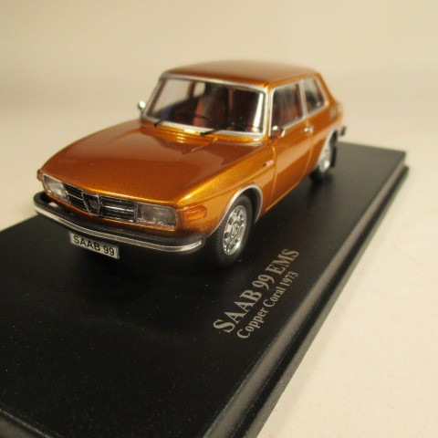 MMNC034 Nordic Collection Troféu Saab 99 EMS 1973 copper coral front view