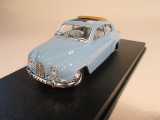 SMNC003 Saab 96 1961 sunroof 1:43 diecast front view