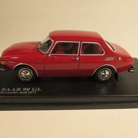 Saab 99 GL 1973 Torreador red side view