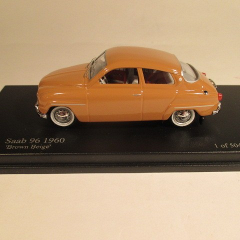 MMNC036 Nordic Collection Troféu Saab 96 brown beige diecast 1:43